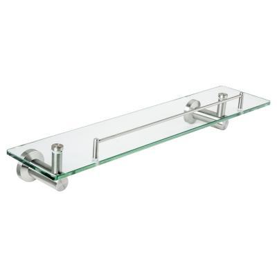 Repisa vidrio 52x14,5x10,8 cm Cromado