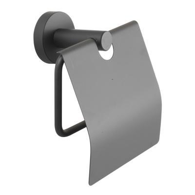 Portapapel negro con tapa