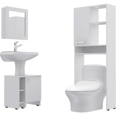 Combo Botiquín 47 + mueble bajo lavamanos 47 + Estante 26