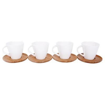 Set de tazas para café 4 unidades blanco