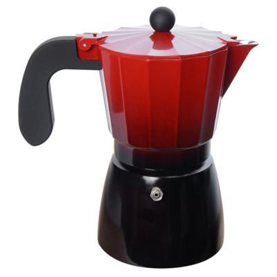 Cafetera Aluminio Rojo 600 ml
