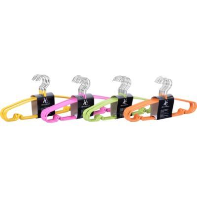 Set 10 Colgadores PVC con Gancho Metálico