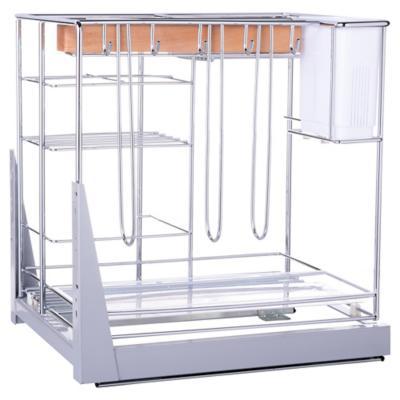 Organizador extensible 44,8x44,2x34,2 cm acero Cromado