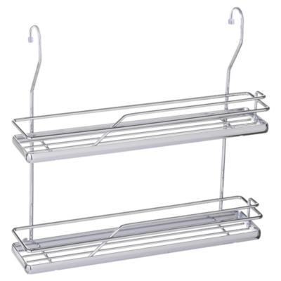 Especiero con 2 estantes 10x31,5x33 cm acero cromado