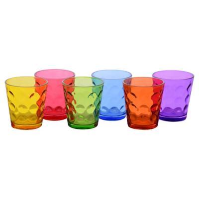 Set Vasos de Vidrio 340 ml 6 Unidades Multicolor