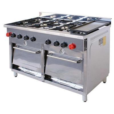 Cocina Industrial 6 quemadores silver