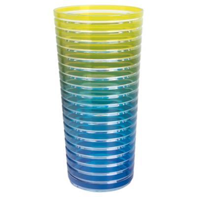 Vaso acrilico 2 tonos rayas surt