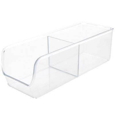 Organizador de cocina 10x28x8 cm 2 divisiones Transparente