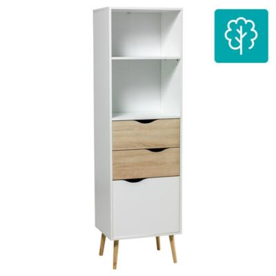 Estante Oslo 50x39x171 cm blanco/oak