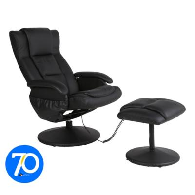 sillón reclinable eléctrico negro