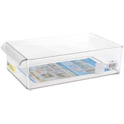 Organizador para freezer 37x20x10 cm acrílico transparente