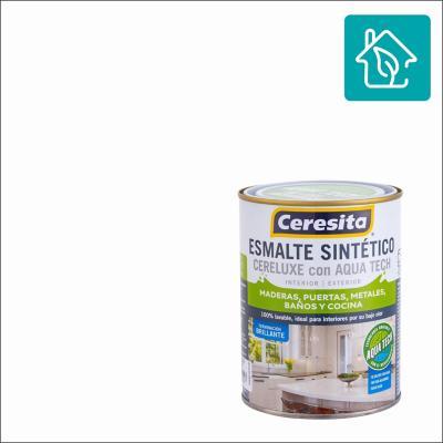 Esmalte Sintetico Cereluxe Aquatech Blanco 1/4gl