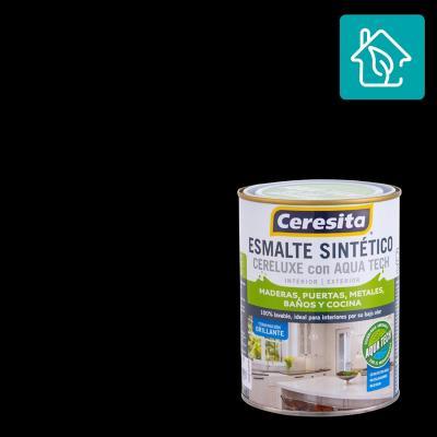 Esmalte Sintetico Cereluxe Aquatech Negro 1/4gl