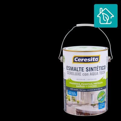 Esmalte Sintetico Cereluxe Aquatech Negro 1 gl
