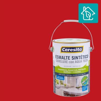 Esmalte Sintetico Cereluxe Aquatech Bermellon 1 gl
