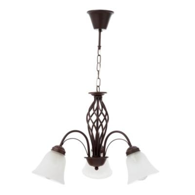 Lámpara de colgar Metal y vidrio Libia Bronce