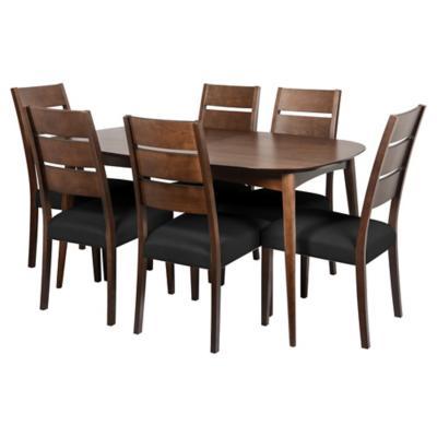 Juego de comedor Oslo extensible 6 sillas
