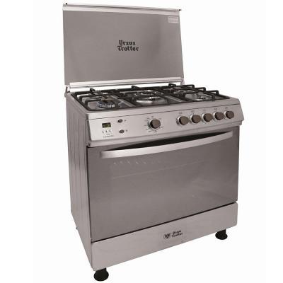 Cocina a gas 5 quemadores 104 litros silver