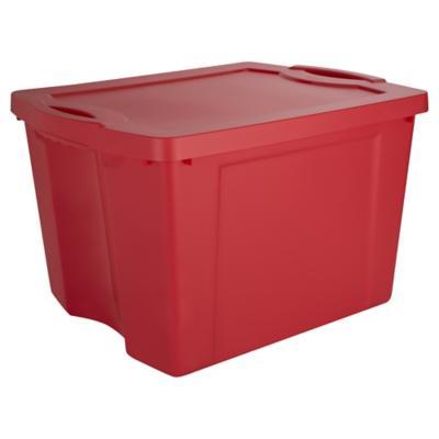 Caja organizadora 75 litros 37,8x48x60,3 cm rojo