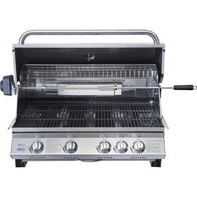 Parrilla a Gas empotrable 4 Quemadores + 1 quemador rostizador trasero Kansas BBQ Grill