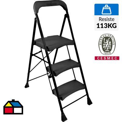 Escalera silla 3 peldaños 1,3 mt Acero