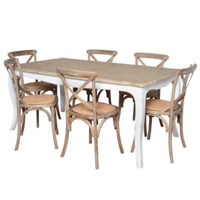 Juego de comedor Vittoria 6 sillas albayalde