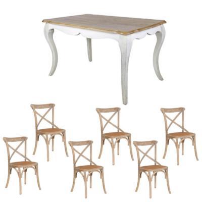 Combo Mesa Comedor + 6 sillas albayal
