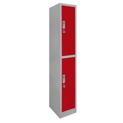 Locker de oficina acero 2 puertas con portacandado