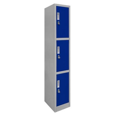 Locker de oficina acero 3 puertas con portacandado