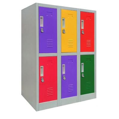 Locker de oficina acero 6 puertas con portacandado
