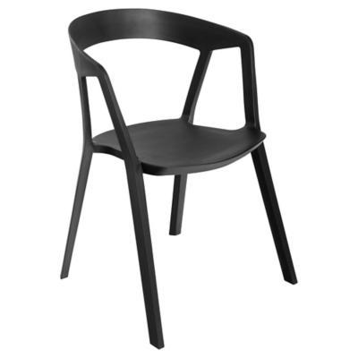 Silla plástico 77x56x57 cm negro