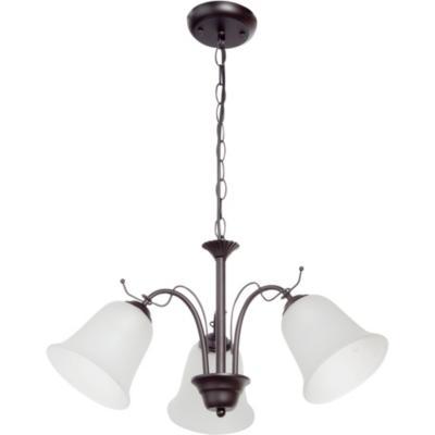 Lámpara de colgar Metal y vidrio Rústico Egipto Negro y Beige