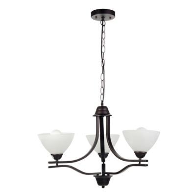 Lámpara de colgar Metal y vidrio Taza Negro y Beige