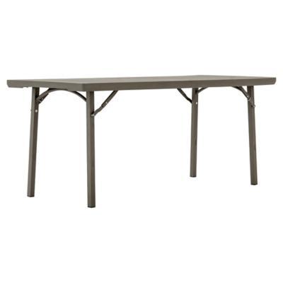 Mesa retangular plegable gris