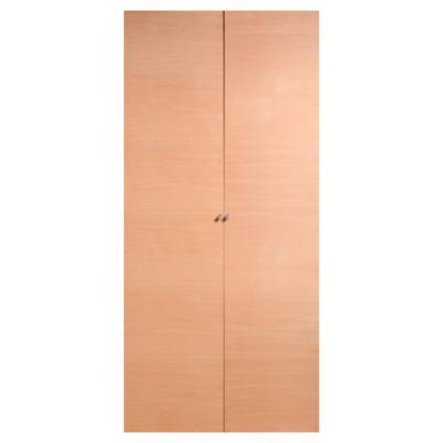 Set puerta de closet abatible enchapada 90x200 cm