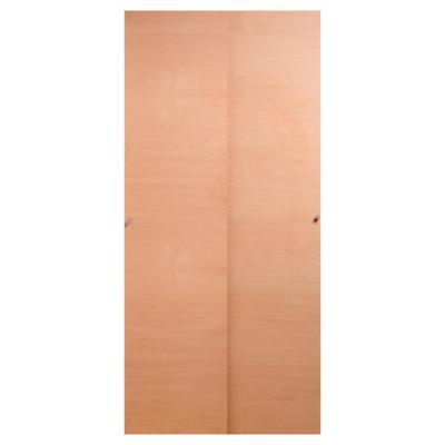 Set puerta de closet corredera enchapada 90x200 cm