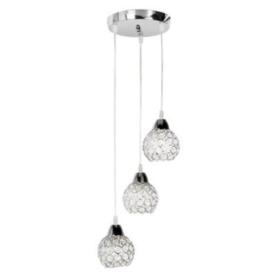 Lámpara de colgar Metal y vidrio Thomsen Transparente