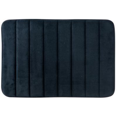 Piso para baño poliéster 40x60 cm negro