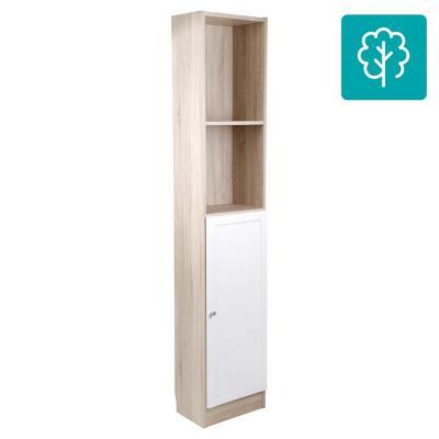 Estante madera 40x28x203 ak y blanco