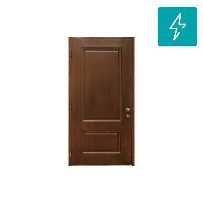 Puerta de Fibra 2 Paneles textura madera 80 x 200 cm