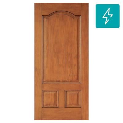 Puerta de Fibra 3 Paneles textura madera 90 x 200 cm