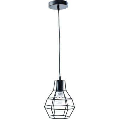Lámpara de colgar Metal Caruso Negro