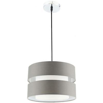 Lámpara de colgar tela 1 luz E27 gris