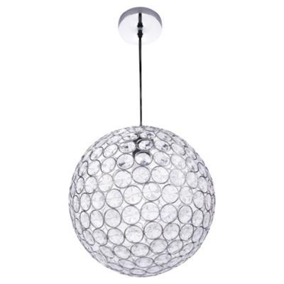 Lámpara de colgar Metal y acrílico Emilia Transparente