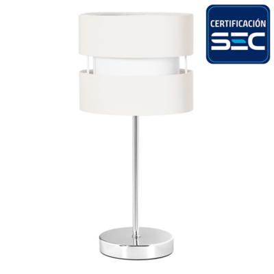 Lámpara de mesa tela 1 luz E27 beige