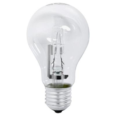 Ampolleta Eco halógena E27 52w luz cálida