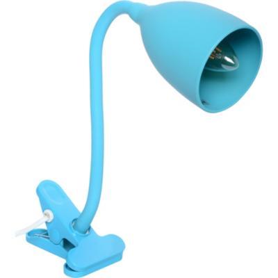 Lámpara pinza silicona E14 celeste