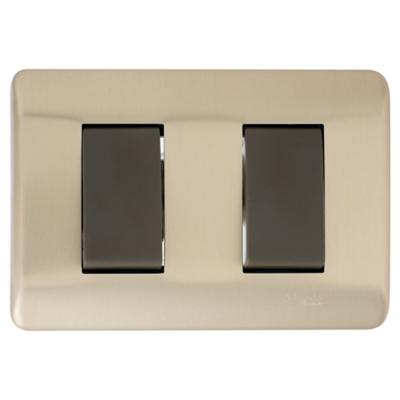 Interruptor doble (9/15) 16 A Bronce