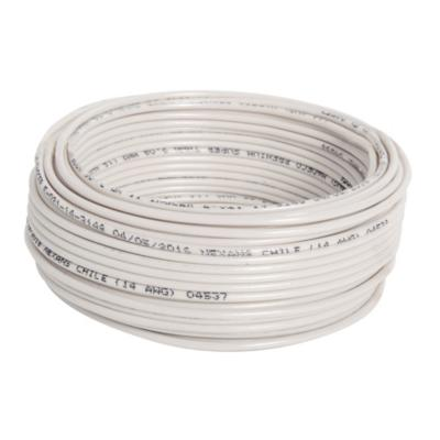 Cable eléctrico (Thhn) 12 Awg 25 m Blanco