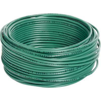 Alambre de cobre aislado (H07V-U) 1,5 mm2 25 m Verde